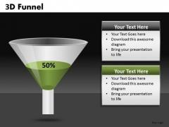 50 Percent 3d Funnel PowerPoint Templates Funnel Slides