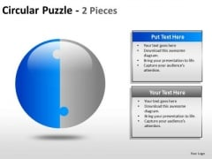 50 Percent Circle Puzzle PowerPoint Slides And Ppt Diagram Templates