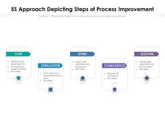 5S Approach Depicting Steps Of Process Improvement Ppt PowerPoint Presentation Summary Slideshow PDF