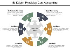 5S Kaizen Principles Cost Accounting Ppt PowerPoint Presentation Show Objects