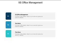5s Office Management Ppt Powerpoint Presentation Ideas Designs Cpb