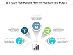 5s System Plan Position Promote Propagate And Pursue Ppt Powerpoint Presentation Slides Templates