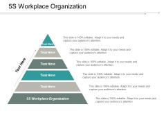 5S Workplace Organization Ppt PowerPoint Presentation Portfolio Styles Cpb