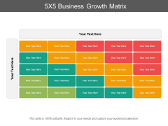 5x5 business growth matrix ppt powerpoint presentation model icons