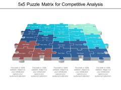 5X5 Puzzle Matrix For Competitive Analysis Ppt PowerPoint Presentation Summary Microsoft