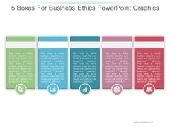 5 Boxes For Business Ethics Ppt PowerPoint Presentation Images