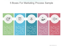 5 Boxes For Marketing Process Sample Ppt PowerPoint Presentation Slides