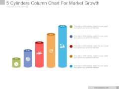 5 Cylinders Column Chart For Market Growth Ppt PowerPoint Presentation Outline