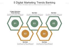 5 Digital Marketing Trends Banking Ppt PowerPoint Presentation Icon Deck Cpb Pdf