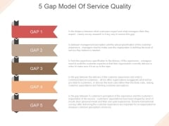 5 Gap Model Of Service Quality Ppt PowerPoint Presentation Model