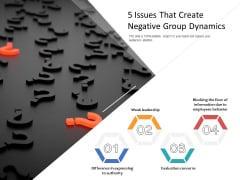 5 Issues That Create Negative Group Dynamics Ppt PowerPoint Presentation Professional Shapes PDF