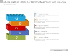 5 Lego Building Blocks For Construction Ppt PowerPoint Presentation Themes