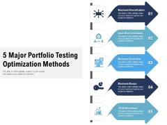 5 Major Portfolio Testing Optimization Methods Ppt PowerPoint Presentation File Samples PDF
