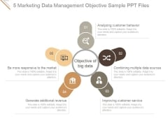 5 Marketing Data Management Objective Ppt PowerPoint Presentation Introduction