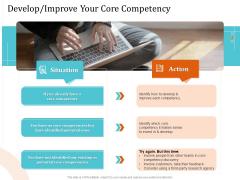 5 Pillars Business Long Term Plan Develop Improve Your Core Competency Slides PDF