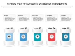 5 Pillars Plan For Successful Distribution Management Ppt PowerPoint Presentation Show Slides PDF