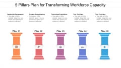 5 Pillars Plan For Transforming Workforce Capacity Ppt PowerPoint Presentation File Graphics Pictures PDF