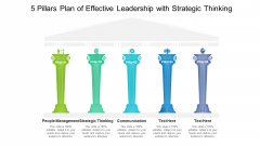 5 Pillars Plan Of Effective Leadership With Strategic Thinking Ppt PowerPoint Presentation Icon Graphic Tips PDF