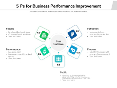 5 Ps For Business Performance Improvement Ppt PowerPoint Presentation Icon Samples PDF