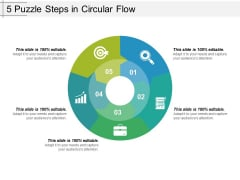 5 Puzzle Steps In Circular Flow Ppt PowerPoint Presentation Icon Diagrams