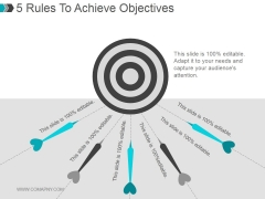 5 Rules To Achieve Objectives Ppt PowerPoint Presentation Slide