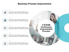 5 STAGE Continuous Improvement Process Ppt PowerPoint Presentation Professional Graphic Images