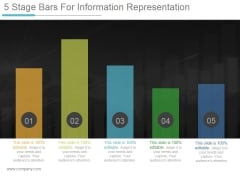 5 Stage Bars For Information Representation Ppt PowerPoint Presentation Summary