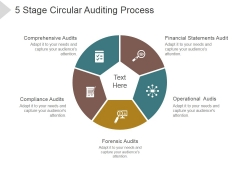5 Stage Circular Auditing Process Ppt PowerPoint Presentation Deck