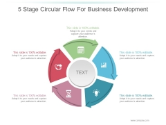 5 Stage Circular Flow For Business Development Ppt PowerPoint Presentation Examples