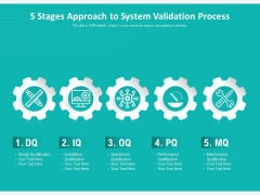 5 Stages Approach To System Validation Process Ppt PowerPoint Presentation Styles Demonstration PDF