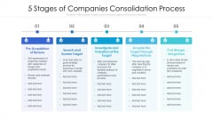5 Stages Of Companies Consolidation Process Ppt Show Model PDF