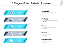 5 Stages Of Job Aid With Proposal Ppt PowerPoint Presentation File Slides PDF