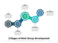 5 Stages Of Work Group Development Ppt PowerPoint Presentation Outline Examples PDF