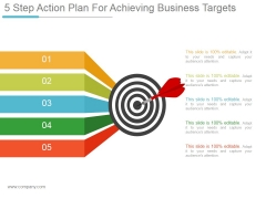 5 Step Action Plan For Achieving Business Targets Ppt PowerPoint Presentation Microsoft
