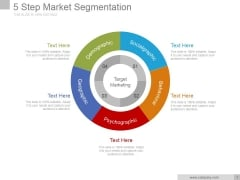 5 Step Market Segmentation Ppt PowerPoint Presentation Pictures
