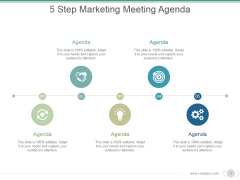 5 Step Marketing Meeting Agenda Ppt PowerPoint Presentation Pictures
