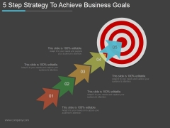 5 Step Strategy To Achieve Business Goals Ppt PowerPoint Presentation Template