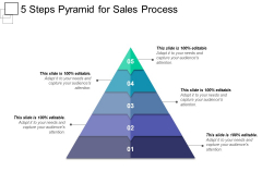 5 Steps Pyramid For Sales Process Ppt PowerPoint Presentation Portfolio Templates