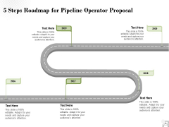 5 Steps Roadmap For Pipeline Operator Proposal Ppt PowerPoint Presentation Show Example Introduction