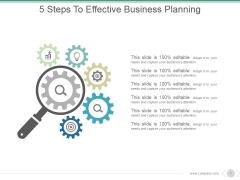 5 Steps To Effective Business Planning Ppt PowerPoint Presentation Model