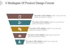 5 Strategies Of Product Design Funnel Ppt PowerPoint Presentation Files