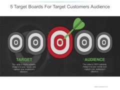 5 Target Boards For Target Customers Audience Ppt PowerPoint Presentation Icon