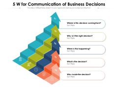 5 W For Communication Of Business Decisions Ppt PowerPoint Presentation Gallery Example Introduction PDF