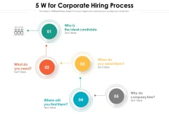 5 W For Corporate Hiring Process Ppt PowerPoint Presentation Gallery Structure PDF