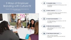 5 Ways Of Employer Branding With Culture Fit Ppt Infographic Template Graphics Download PDF