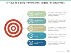 5 Ways To Setting Performance Targets For Employees Ppt PowerPoint Presentation Deck