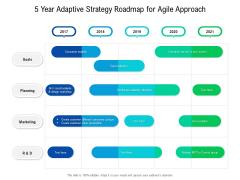 5 Year Adaptive Strategy Roadmap For Agile Approach Brochure