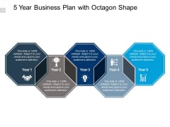 5 Year Business Plan With Octagon Shape Ppt PowerPoint Presentation Show Inspiration