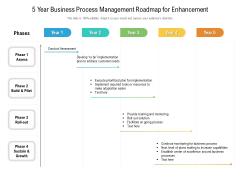 5 Year Business Process Management Roadmap For Enhancement Template