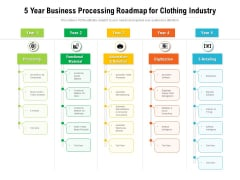 5 Year Business Processing Roadmap For Clothing Industry Rules